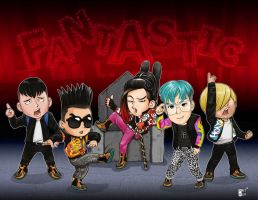 Fantastic Baby - Big Bang drawing by lousythought