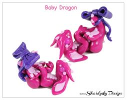 Playful Pink Baby Dragon by ShaidySkyDesign