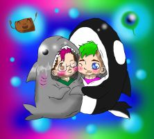 Sharkiplier and the Whale biologist by ladyevel