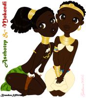 Asethotep and Mukondi Commission by guillmon9005