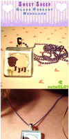 Sweet Sheep Glass Necklace by Poiizu