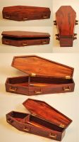 Coffin-shaped Pencil Box by Itsmerick