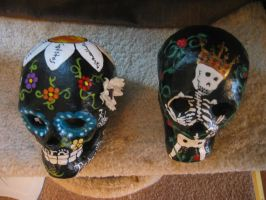Two more skulls by NibbleKat