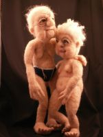 Young Love- needle felted by FeltAlive