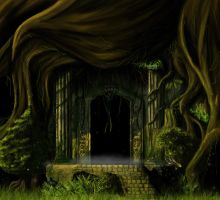 forest temple by Glucka