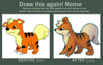 DRAW THIS AGAIN! -I still can't draw Growlithe- by Entin