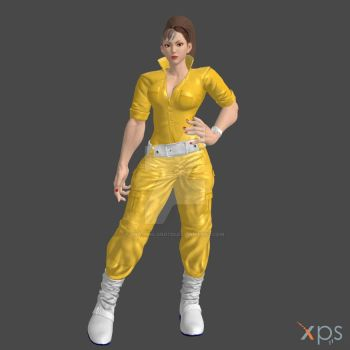 SFV Chun Li April O'Neil xps by DragonLord720