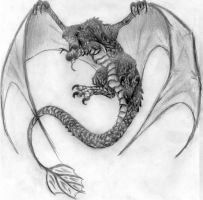 Draco volador / Flying Wyvern by DrizztHunter