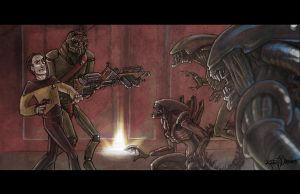 Alien vs Data vs Prawn by Techta
