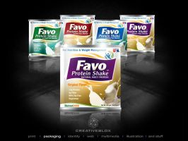 FavoProtein_Packaging logo by creativeblox