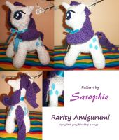 Rarity amigurumi by Sasophie