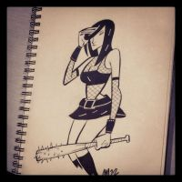 Cassie from Hack Slash sketch by Andrew-Ross-MacLean