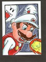 Mario on Fire by johnnyism