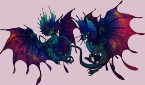 Cosmic skin fae dragon by Lilwolfpard