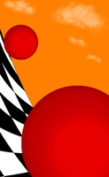 Red Sphere Planes-1 by dinshino