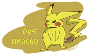 025: Pikachu by Speedvore