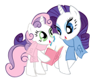Rarity and Sweetie Belle - vector by Jamy-Jamy