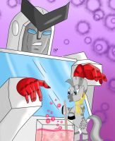 MLP/TF: Ratchet and Zecora by KarToon12