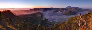 Dawn Over the Tengger Crater by shaun-johnston