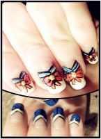 Sailor Moon nail art by ToxicMiyoko