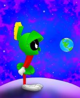 Marvin the Martian by kilroyart