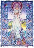 Celtic Irish Fantasy Art. PALU - The Cat Goddess by jimfitzpatrick