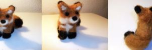 Needle Felted Fox by StCoraline