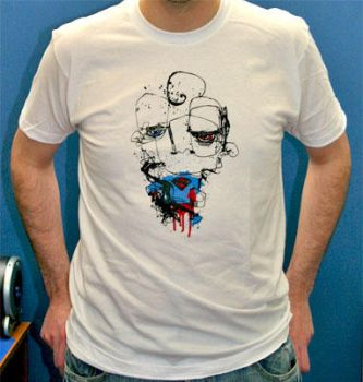 Superman on a T shirt by BangBangTshirts