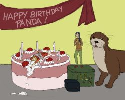 Belated B-day for Panda by Biali