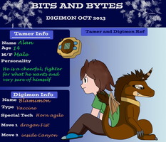 Bits and Bytes digimon oct app - Alan and Blam by DigitalMabl