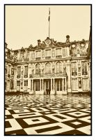 Checkered Courtyard by wolfmagus