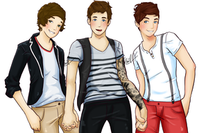 HARRY S DAN J AND LOUIS T by Melancholy-Puppet