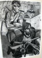 2 Figure Charcoal by longdesinzzz