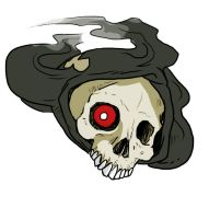 Duskull has been colored by Palinor