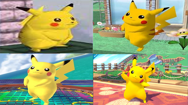 Pikachu Evolution in Super Smash Bros. by NintendoFanDj