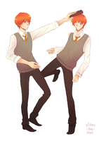 Weasley twins by Sitas-the-Fool