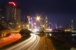 Highway alongside the Harbour by johnchan