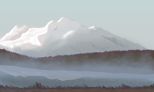 snow coverd mountain by agentfox