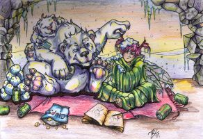 'The Den'-Polar Babies by LadySaishan