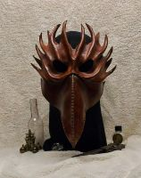 Steampunk Leather Mask Phoenix Eagle Bird by JoannaCorrinCoutures