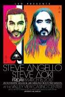 Steve Angello and Aoki Poster ARt by meltendo