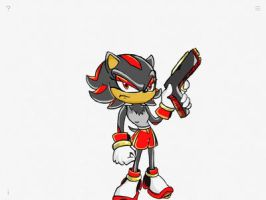 Shadow the hedgehog rule 63 by TheUnknownSketcher