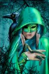 Morgane - the blue witch by annewipf