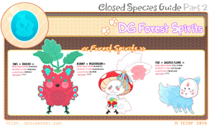 [Closed Species] - DG Forest Spirits Guide by Tesvp