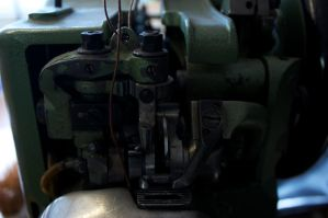 sewing machine detail by bookscorpion