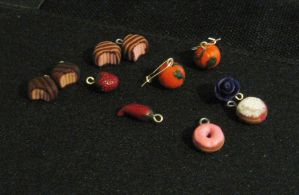 polymer clay charms by jen4eternity