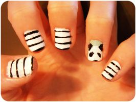 Panda And Stripes by SuperMissKitteh
