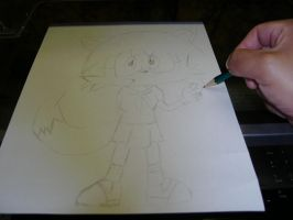 """Me drawing Dani  """"new Outfit"""" by Esteban1988"""