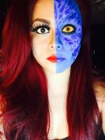 Mystique and Jean Grey. by mistresschiefx