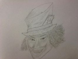 Mad Hatter Sketch by GhostOfPardition